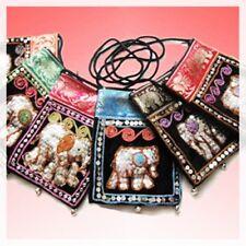 Thai Handmade Bag Elephant Shoulder Sling Hippie Purse Crossbody Yaam Coin Card