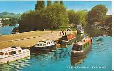 Gloucestershire Postcard - The River Avon at Tewkesbury    U4398