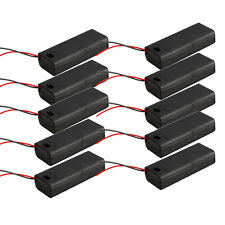 "10pcs 2 AAA 3A Cells Battery 3V Clip Holder Black Box Case ON/OFF Switch+6""Leads"