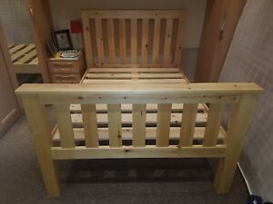 NEW HANDMADE SOLID PINE DOUBLE BED