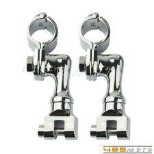 2X Motorcycle Scooter Bowleg 1'' Engine Guard Foot Peg Clamps Fit Harley Yamaha