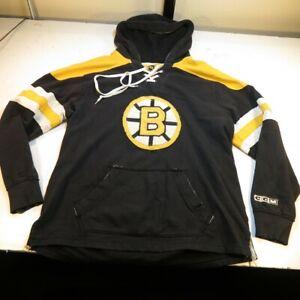 CCM BOSTON BRUINS NHL HOCKEY PULLOVER HOODIE HOODED JERSEY SWEATSHIRT Mens XL