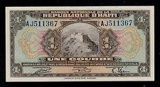 HAITI   1  GOURDE   L. 1919   AJ   PICK # 170  XF.