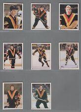 1981-82 O-Pee-Chee Hockey Sticker Vancouver Canucks Complete Team Set (8) OPC