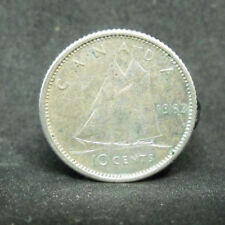 CANADA 10 CENTS 1963  SILVER COIN  #988