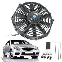 "12"" UNIVERSAL STRAIGHT COOLING RADIATOR FAN KIT CAR PUSH PULL BLADE ELECTRIC UK"