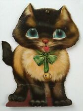 Antique Gabriel Paper Doll Cat Moving Toy Die Cut Embossed Litho Animal Vintage