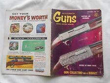 GUNS-(MAGAZINE)-NOVEMBER,1958-SAVAGE RIFLES-60 YEARS YOUNG-RUGER