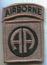 US Army 82nd Airborne ACU Patch W/Tab 1 Piece Hook Back