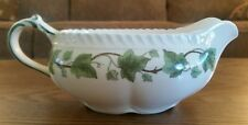 Vintage Harker Pottery Royal Gadroon Green Ivy Gravy Boat Bowl Dish MCM