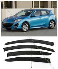 Window Visors Deflector for Mazda 3 Hatchback 4dr 2010-2013