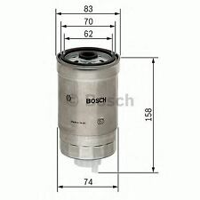 BOSCH ENGINE FUEL FILTER OE QUALITY REPLACEMENT 1457434329