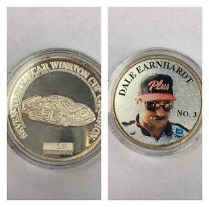 Dale Earnhardt 1998 Daytona 500 Champion .999 Silver Coin With Case 19/5000 Rare