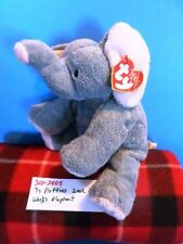 Ty Pluffies Winks the Grey Elephant 2002 plush(310-2405)