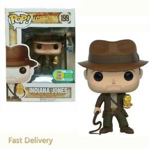 Funko Pop #199 Indiana Jones Vinyl Action Figures brinquedos Collection Toys