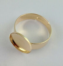 30 Rose Gold plated Ring Base Blank Glue-on OVAL *20836