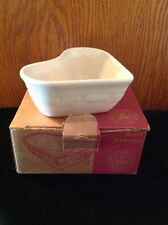 Longaberger Heart Ramekin Dish & Candle Ivory - Made in Usa - Nib