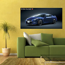 NISSAN SKYLINE R35 GTR V-SPEC NISMO SPORTS CAR LARGE POSTER 24x48in