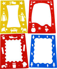 A4 Border Stencils Christmas Pack of 4 AP/190/BSC