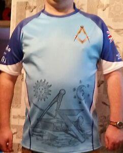 Masonic Rugby No G shirt, Light Blue Square + Compasses, 2B1A1, Union Flag, UGLE