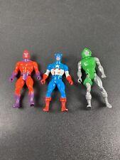 Vintage 1984 Mattel Secret Wars Magneto Captain America, Dr. Doom Action Figures