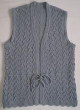 Damenweste Strick Weste 38-40 S ärmellos V-Ausschnitt grau Pullover Shirt Hemd