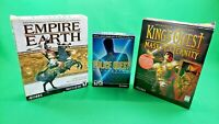 Lot of 3 Sierra PC CD-ROM Games! Empire Earth, King's Quest MoE & Police Quest!