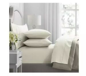 NWT HOTEL PREMIER COLLECTION Ivory 650 Thread Count 6 Piece King Sheets