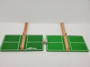 Vintage 1970s Ping Pong - The Official Paddle Pong Handheld Wooden Game LOT OF 2