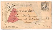BF86 1889 France Paris Carte Telegraphique {samwells-covers}