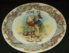 Aynsley Bone China Humpty Dumpty Alice Through The Looking Glass Plate L Carroll