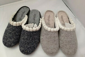 Quality Knitted Ladies Womans Wedge Mule / Slip Slippers House shoes Sizes New