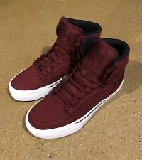 Supra Kids Vaider Size 4 US Youth Burgundy White BMX DC Skate Shoes Sneakers