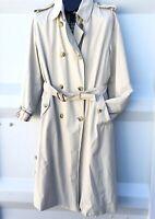 BURBERRY Trench Coat Jacket Solmy Nova Check Liner Plaid Collar