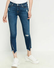 NWT $199 Seven 7 For All Mankind Jeans Ankle Skinny Frayed Seams sz 28