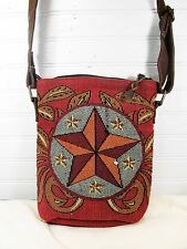 Hand Bag Crossbody Style Tapestry Jacquard Wester Star  Pattern