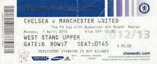 Billet-Chelsea et Manchester United 01.04.13 FA Cup
