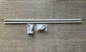 "Set of 2 - IKEA CENTRUM  Curtain rod holder, white + 2 curtain rods 47.5"" x 3/4"""