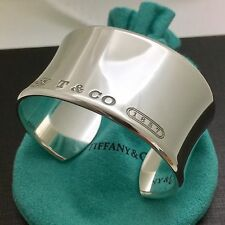 Tiffany & Co Sterling Silver 1837 Extra Wide Cuff Bracelet