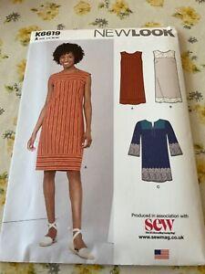 NEW LOOK K6619 Ladies Sewing Dress Pattern US10-22 UNCUT