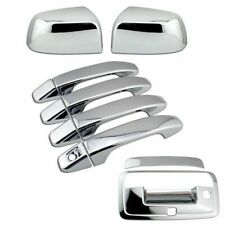 For 2015-2021 Chevy Colorado Chrome Top Mirror + Door Handle + Tailgate Covers