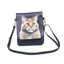 Cat Slim Cross body Flap Bag - Maine Coon