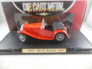 Road Signature 92468 1947 MG TC Midget in Red 1:18 Scale