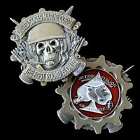2ND Tank Battalion FIRST ROUND ON US! CHALLENGE COIN US MARINES PIN UP TANKER
