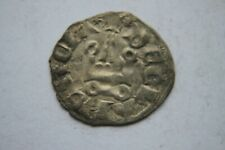 SILVER DENIER CRUSADER ISABELLA of  ATHENS COIN 12th c KNIGHTS TEMPLAR CROSS