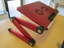 Rouge Ordinateur Portable Refroidissement Table Canapé Support bureau + pliant multi angle jambes