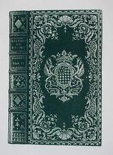 1904 Bibliophilie French XVIIIth Century Bookbinding Caxton Club Chicago 1/252