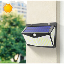 208 LED Waterproof Solar Power PIR Motion Sensor Wall Light Garden Lamp 3 Modes