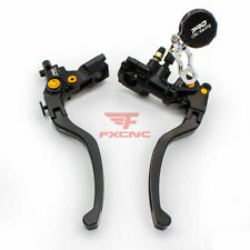 CNC Hydraulic Brake Cable Clutch Lever Master Cylinder Reservoir Motorcycle