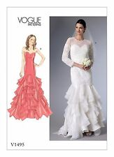 V1495 Vogue 1495 Sewing Pattern Bridal Special Occasion Dress Sizes 6-14 Patron
